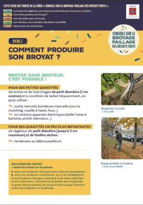 Fiche 2 : Produire du broyat