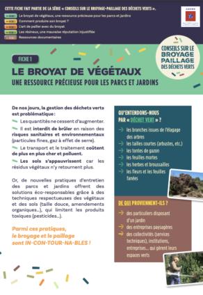Fiche 1 : Broyat végétaux